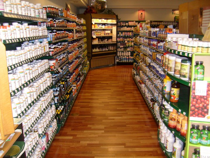 aisle of supplements